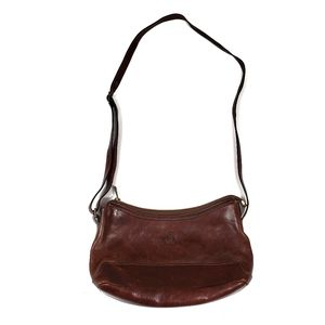Giudi Brown Leather Shoulder Bag